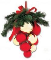 Vánoční hrozen - zlaté + červené