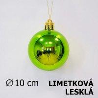 Vánoční koule limetková 10cm