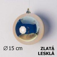 Vánoční koule zlatá 15cm