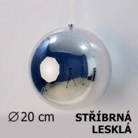 Vánoční koule stříbrná 20cm