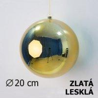 Vánoční koule zlatá 20cm