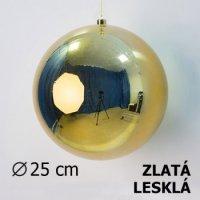 Vánoční koule zlatá 25cm