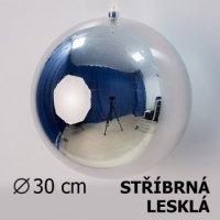 Vánoční koule stříbrná 30cm