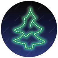 Stromek, LED - zelená
