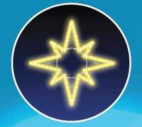 Hvězda, LED - žlutá