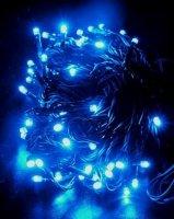 Řetěz efektový, 120LED 20m, modrý