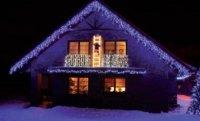 Světelné rampouchy LED PROFI prodlužovací, 2x0,7m, modrá+stud.bílá