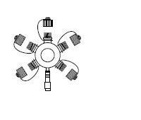 Multikonektor 230V, bílá