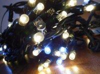 LED řetěz HIGH-PROFI 27LED teple bílá+7LED studen.bílá+6LED studen.bílá blikající - 5m
