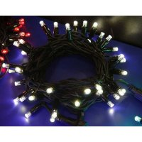 Girlanda LED PROFI 5m/35 + 5 flash LED denních bílých, prodloužitelná