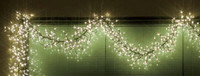 Girlanda LED PROFI 2m/132+12 LED/studená bílá - diod 3D soft + flash efekt