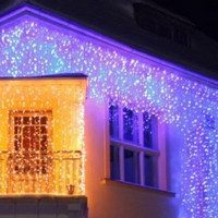 Světelný LED závěs efektový - studená bílá 360 LED