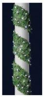LED dekorace s umělým jehličím, zelená