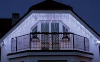 Vánoční světelné LED rampouchy - 24V - studená bílá