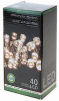 Vánoční LED girlanda 40 LED - 24V - teplá bílá
