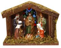 Betlém dřevěný svítící - 6 postav
