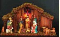 Vánoční betlém svítící - velký