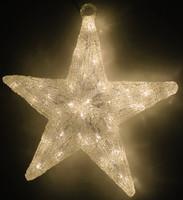 Hvězda svítící - 30 bílých LED