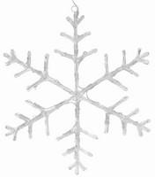 Vločka svítící - 40 bílých LED 45cm
