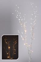 Větvičky svítící s bílými perličkami - na baterie