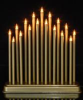 Vánoční svícen velký - zlatý