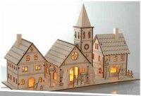 Dřevěná vánoční vesnice - 3 domky