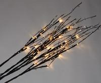 Větvičky svítící s čirými korálky + napájecí zdroj