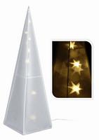 Vánoční jehlan svítící - 45cm