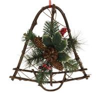 Zvonek - závěsná dekorace ratanová