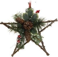 Hvězda - závěsná dekorace ratanová