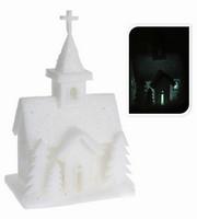 Vánoční LED svítící kostelík pěnový
