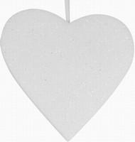 Srdce - závěsná pěnová vánoční LED dekorace