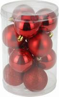Vánoční koule - set 12ks - červené