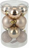 Vánoční koule - set 12ks - oříškově hnědé