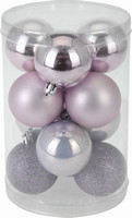 Vánoční koule - set 12ks - levandulové