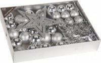 Vánoční sada - 33ks - stříbrná