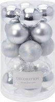 Vánoční koule - set 20ks - stříbrné průměr 4cm