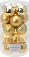 Vánoční koule - set 20ks - zlaté průměr 6cm