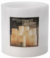 Vánoční LED svíčka - bílá 15x15cm