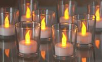 Vánoční svíčky LED čajové