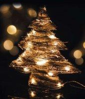 Stromeček ratanový svíticí