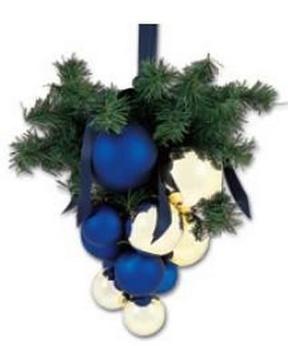 Vánoční hrozen - zlaté + modré