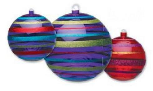 Vánoční koule 30cm - transparent