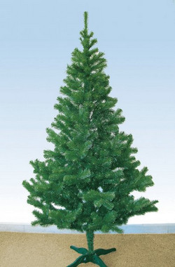 Vánoční strom z umělého jehličí zelený 2,5m
