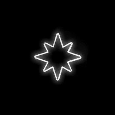 Hvězda studená bílá 96x100cm 230V