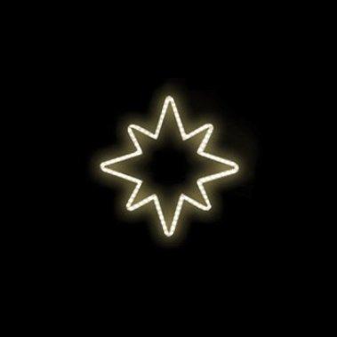 Hvězda teplá bílá 96x100cm 230V