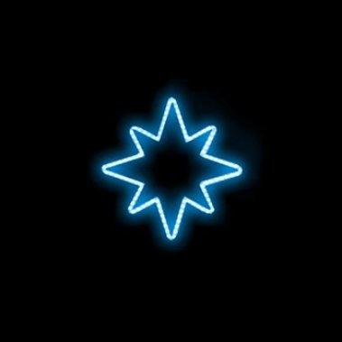 Hvězda modrá 96x100cm 230V