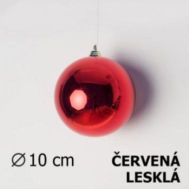 Vánoční koule červená 10cm