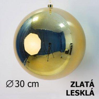 Vánoční koule zlatá 30cm