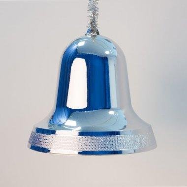 Zvonek stříbrný lesk 20cm